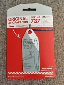 Aviationtag Jet2 Boeing 737 G-CELH Grey and White Bi Colour