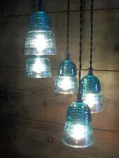 STAR CHANDELIER Vintage Glass Insulator LIGHT FIXTURE RUSTIC Metal TEXAS STAR