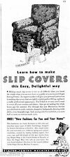 1937 Print Ad of Singer Sewing Machine Co learn how to make slip covers