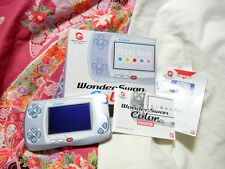 """Wonderswan Color"" Bandai Pearl Blue Console WS Japan 100% Works sn0200244801"