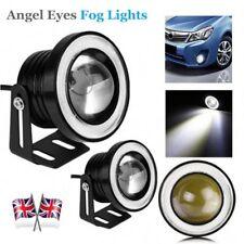 2Pcs 3.5 inch 30W LED COB Car Fog Lights Projector Lens Bulb DRL Angel Eyes Lamp