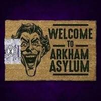 THE JOKER WELCOME TO ARKHAM ASYLUM DC COMICS DOORMAT DOOR MAT GIFT FATHER'S DAY