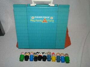 Vintage FISHER PRICE Little People 1974 PLAY FAMILY A FRAME HOUSE #990 people ++