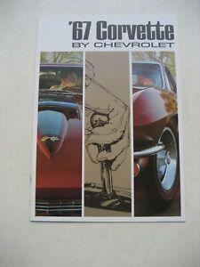 Chevrolet Corvette Prospekt Brochure 1967