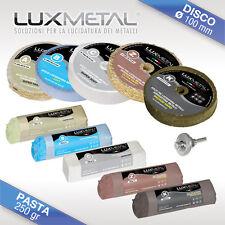 Kit04 lucidatura lucidare pulire alluminio ottone acciaio bronzo cromature rame