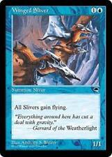 WINGED SLIVER Tempest MTG Blue Creature — Sliver Com