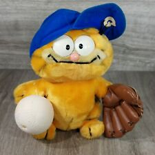 "Dakin 1980s Vintage Baseball Hero Garfield Cat 8"" Plush Stuffed Animal Toy"