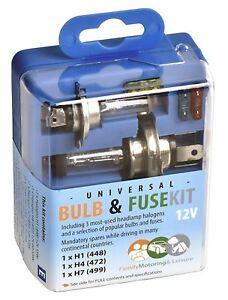 Car Van Caravan Vehicle Spare Bulb Set  Kit Universal Bulbs Fuses Travel