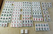 Lot Bright White Mah Jong Tiles 158 Incomplete Set Replacement Crafts Jewelry