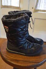 Sporto Cold Winter Snow Boots Women's 6.5 M Black Faux Fur Lined