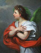 18th CENTURY FRENCH MYTHOLOGICAL OIL WINGED GODDESS NIKE - BEAUTIFUL PAINTING