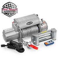 Electric Wireless Self Recovery Winch for Jeep Truck SUV - 12,000 lb