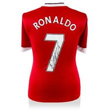 Cristiano Ronaldo Manchester United Home firmado volver Camisa autógrafo Jersey