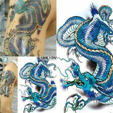USA 2 PCS Body Art waterproof temporary tattoo  men domineering Big Dragon