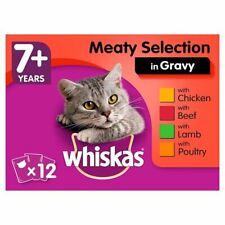 Whiskas 7+ Meat In Gravy Senior Cat Pouches 12 X 100g