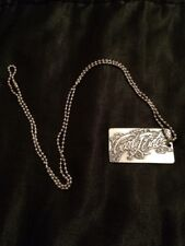 """Good Ride Dogtag Necklace Horse /bull Show Riding Pewter 14"""" """"Good Ride"""""""