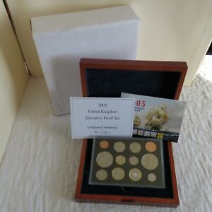 2005 UK 12 COIN EXECUTIVE PROOF COLLECTION - complete