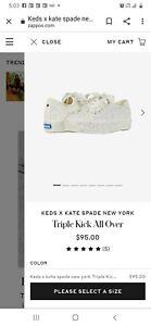 NEW $95 KEDS Kate Spade Triple Glitter Platform Sneaker Bridal Flats Cream  9