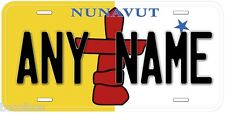 Nunavut Flag Canada Aluminum Novelty Car License Plate