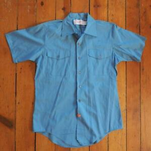 Vintage Sol Neft The Firefighter Dress Blue Shirt Mens Size M