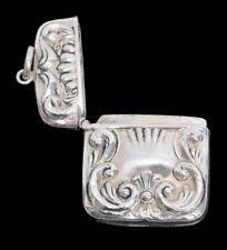"""Art Nouveau Sterling Silver 1 3/8"""" Stamp Safe"""