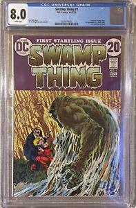 Swamp Thing #1 * CGC 8.0 * 1972 DC * 1st app. Alec and Linda Holland * Nice Case