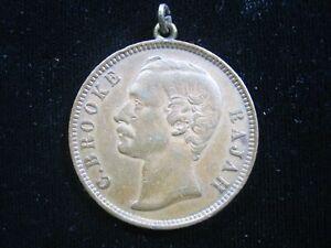 SARAWAK 1 CENT 1889 RAJAH C BROOKE BRITISH MALAYSIA JEWELRY PENDANT 248# COIN