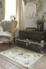 Läufer Teppich 60x90 grau schwarz Shabby Vintage Antik French Jeanne d'ArcLiving
