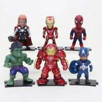 LOT E 6 MINI FIGURINES MARVEL AVENGERS INFINITY WAR SPIDERMAN THOR IRON MAN