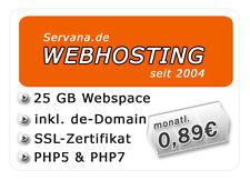 Webhosting mit 25 GB Webspace, SSL-Zertifikat, DE-Domain + PHP5 und MySQL5 uvm.