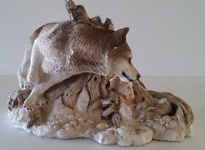 """1993 Living Stone Wolf """"The Chase"""" Figurine"""