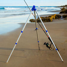 Fishing Rods Tripod Rest Stand Holder for Sea Beach Shore Pier Tackle Telescopic