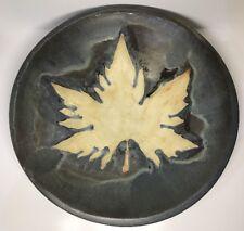 Rare Grande Coupe Art Ceramique Signé ANGEL VERA CERAMICA H 7,5 D 38,5Cm Espagne