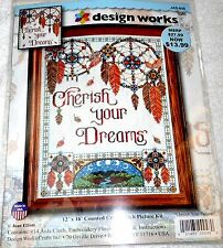 """Design Works Counted Cross Stitch Kit CHERISH YOUR DREAMS 12"""" x 16"""""""