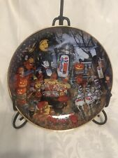 "Franklin Mint "" A Pepsi-Cola Halloween "" Plate Featuring Pepsi Cola 1995"