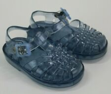 GAP Little Girls' Jelly Sandal Shoes Clear Blue Size 4