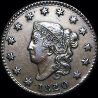 1820 Small Date Coronet Head Large Cent  ---- NICE Type Coin L@@K  ----- #D060