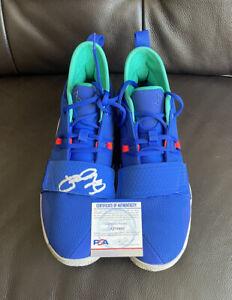 Paul George SIGNED (1) PG 2.5 Racer Blue Shoe Psa/Dna Coa Size 11.5 🔥📈