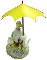 Gardenwize Splashing Duck Duckling Umbrella Garden Yard Porch Statue Ornament