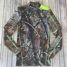 Under Armour Hunting Shirt Mens Small Camo Scent Control Compression 1287697-340