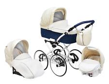 Baby Pram Stroller Buggy Pushchair Classic Retro 3in1 Travel system car seat
