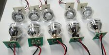 LED Light with Reflector and Lens used 10 Pack ~ Free Domestic Shipping!