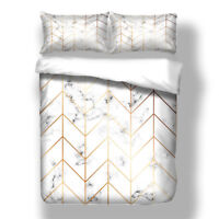 Marble Bedding Set Duvet Cover Pillow Case Twin Full Queen King Bed All Sizes