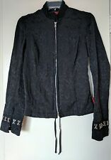 Tripp NYC womens M black goth Lace Up Back jacket coat Brocade Costume Medieval