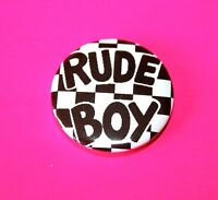 SKA RUDE BOY TWO 2 TONE BUTTON PIN BADGE THE SPECIALS