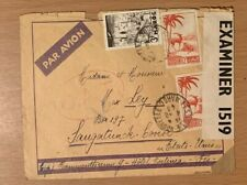 """MOROCCO MAROC FRENCH COLONIES  CENSORED """"OAT"""" CANCEL COVER TO USA  LOT (MAR 545)"""
