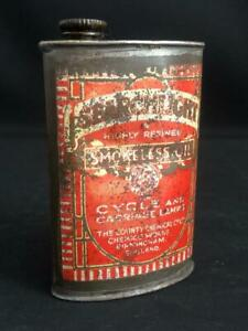 CHEMICO SEARCHLIGHT CYCLE CARRIAGE LAMP OIL LUBRICATING OILER TIN CAN SMOKELESS