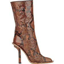 NIB Marni Snakeskin Python Brown Mid Calf Boots  EU 40 US 9