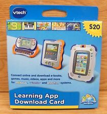 Vtech Learning App Download Card For MobiGo, V.Reader & InnoTab Systems **READ**