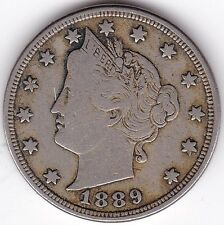 More details for 1889 u.s.a. liberty v nickel | pennies2pounds